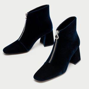 Brand new Zara velvet boots, size 6.5